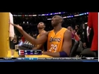 Kobe Bryant  Hits clutch  3 pointer then finger bangs at Nets Jordan Farmar Nets-Lakers 4-3-12