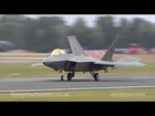 F22 Raptors arrive at Air Tattoo 2010