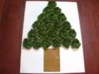 X'mas 折り紙の薔薇でクリスマスツリー Origami Rose Christmas Tree