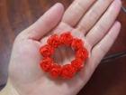 X'mas 折り紙の薔薇でクリスマスリース Origami Rose...