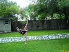 Dancing in the yard