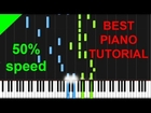 Pachelbel - Canon in D 50% speed easy piano tutorial