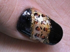 Leopard print nail art tutorial for night out nails designs for beginners cute nail polish ideas