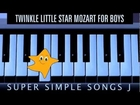 Twinkle Twinkle Little Star for Boys easy piano tutorial play of major nursery rhyme of all time