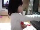 Cute Little Girl Singning