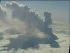 New volcano Eruption at Eyjafjallajökull - aerial ...