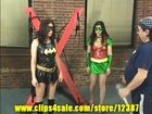 SUPERHEROINES IN PERIL-batbabe and raven bat goes boom and exposed sample