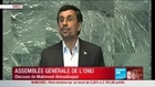 Mahmoud Ahmadinejad à l'assemblée générale de l'ONU le 22 septembre 2011