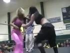 Miss april(AJ Lee),brooke carter vs Roxxie Cotton WSU tag team championship
